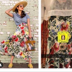 Zara floral print skirt bloggers favorite